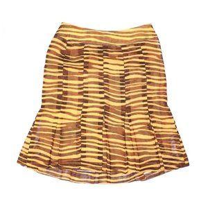 3 for $40! Carlisle 100% Silk Zebra Striped Skirt